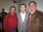 Steve Newman, Reid Farrell and Paul Reubens at the Pee Wee Herman Show on Broadway, Nov. 2010